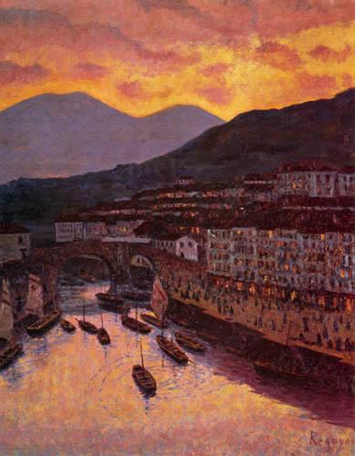 Darío de Regoyos y Valdés - Der Hafen von Ondarroa