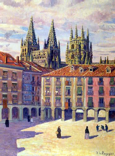 Darío de Regoyos y Valdés - Cathédrale de Burgos le matin