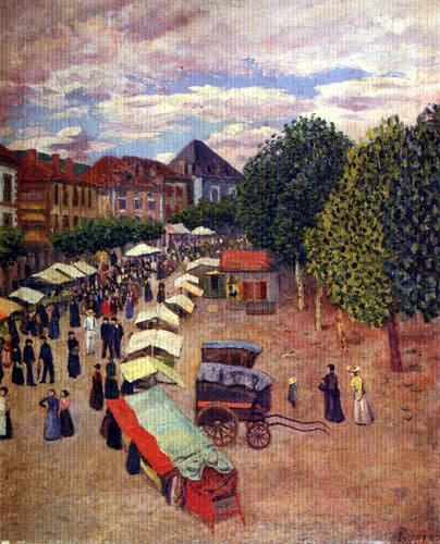 Darío de Regoyos y Valdés - Markt in Dax