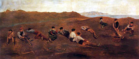 Darío de Regoyos y Valdés - Rest in the mines of Gallarta