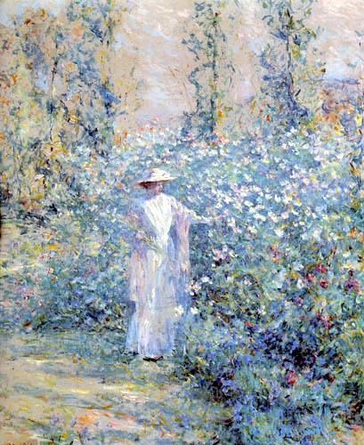 Robert Lewis Reid - En el jardín de la flor