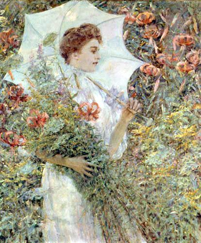 Robert Lewis Reid - El parasol blanco