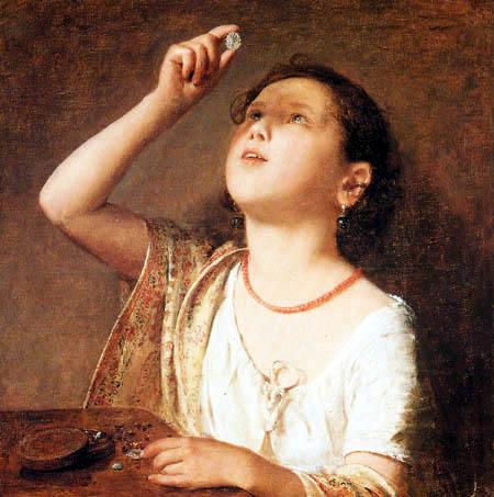 Johann Baptist Reiter - Die kleine Juwelenhändlerin