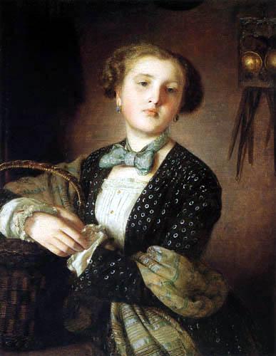 Johann Baptist Reiter - Dame mit Einkaufskorb