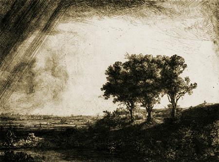 Hermansz. van Rijn Rembrandt - Die drei Bäume