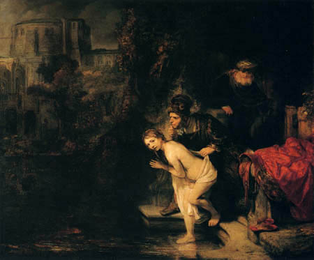 Hermansz. van Rijn Rembrandt - Susanna et les deux vieux hommes