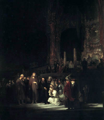 Hermansz. van Rijn Rembrandt - Christ and the adulterer