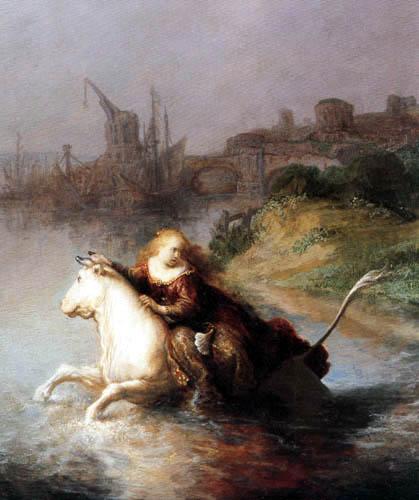 Hermansz. van Rijn Rembrandt - Raub der Europa, Detail