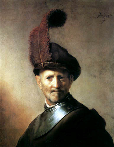 Hermansz. van Rijn Rembrandt - Man with a feather in the cap