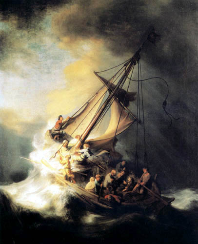 Hermansz. van Rijn Rembrandt - Christ in the storm on lake
