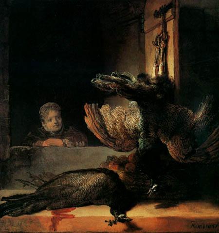 Hermansz. van Rijn Rembrandt - Stillleben mit toten Rebhühnern