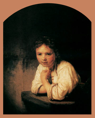 Hermansz. van Rijn Rembrandt - Girl Leaning on a Windowsill