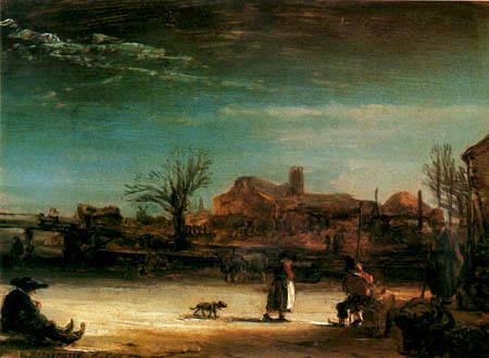 Hermansz. van Rijn Rembrandt - Winter landscape