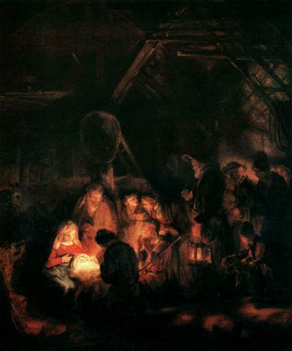 Hermansz. van Rijn Rembrandt - The Adoration of the Herdsmen
