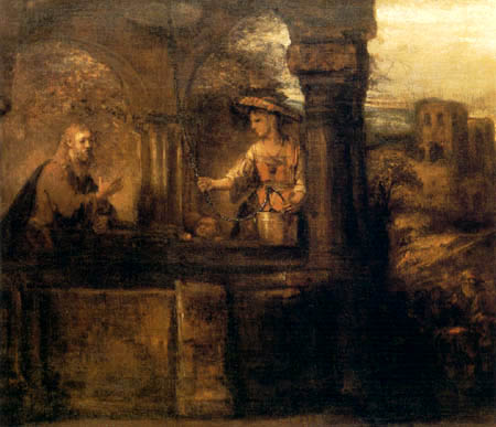 Hermansz. van Rijn Rembrandt - Christ and the Samaritan woman