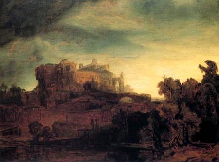 Hermansz. van Rijn Rembrandt - Landschaft mit Schloß