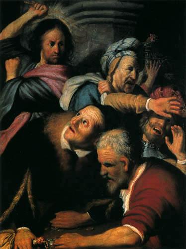 Hermansz. van Rijn Rembrandt - The temple cleaning