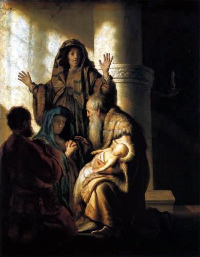 Hermansz. van Rijn Rembrandt - Simeon im Tempel