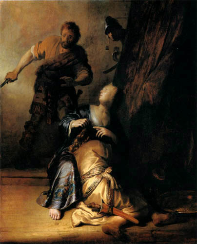 Hermansz. van Rijn Rembrandt - Samson von Dalila verraten