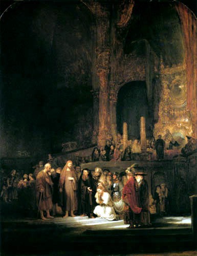 Hermansz. van Rijn Rembrandt - Christ and the adulterer