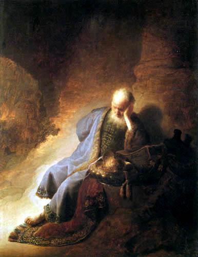Hermansz. van Rijn Rembrandt - Jeremias beklagt die Zerstörung