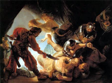 Hermansz. van Rijn Rembrandt - The glare of Samson