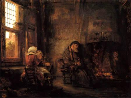 Hermansz. van Rijn Rembrandt - The old Tobias and its Wife