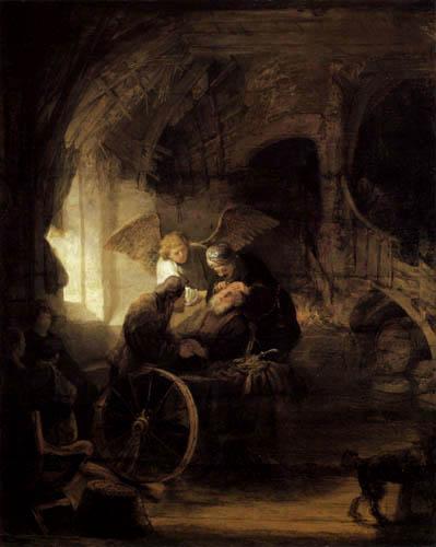 Hermansz. van Rijn Rembrandt - Tobias heilt seinen Vater
