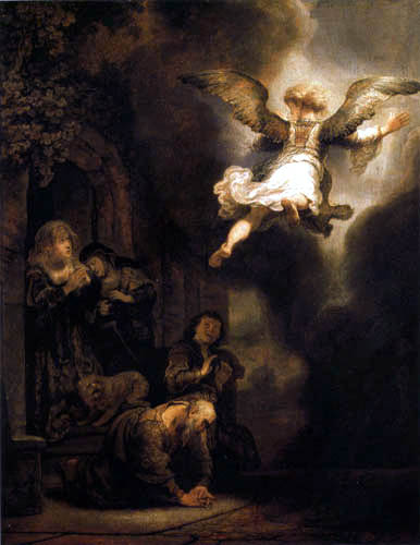 Hermansz. van Rijn Rembrandt - The angel leaves the family of the Tobias