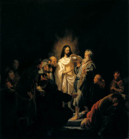 Hermansz. van Rijn Rembrandt - Christ shows the wound