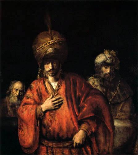 Hermansz. van Rijn Rembrandt - Haman in Ungnade
