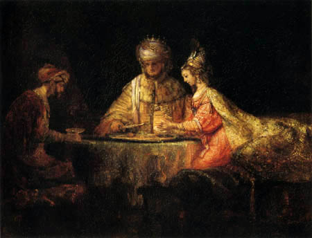 Hermansz. van Rijn Rembrandt - Banquet of Esther with Ahasuerus and Haman