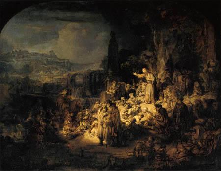 Hermansz. van Rijn Rembrandt - The sermon by John the Baptist
