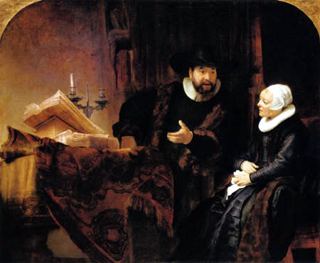 Hermansz. van Rijn Rembrandt - The preacher Anslo and his wife