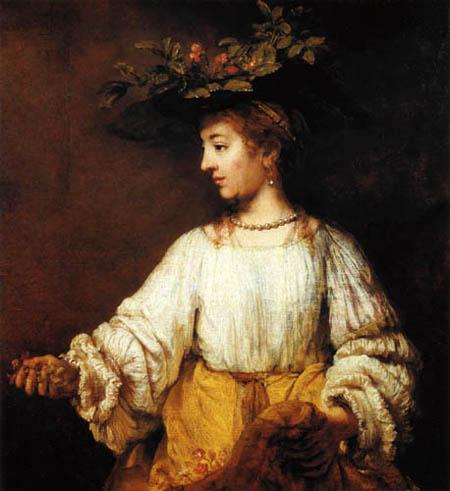 Hermansz. van Rijn Rembrandt - Hendrickje Stoffels als Flora