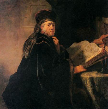 Hermansz. van Rijn Rembrandt - The scholar in the studying room