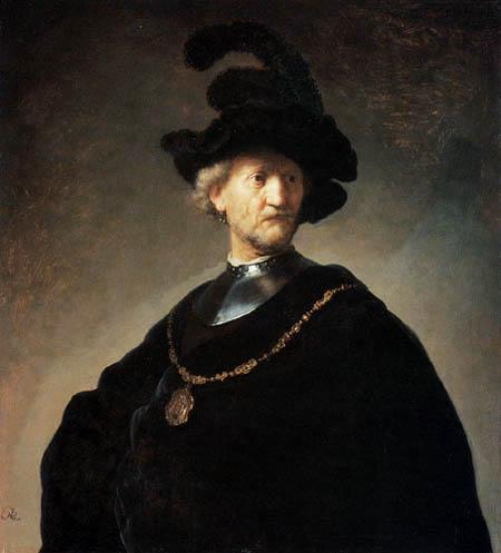 Hermansz. van Rijn Rembrandt - A old man with a black beret