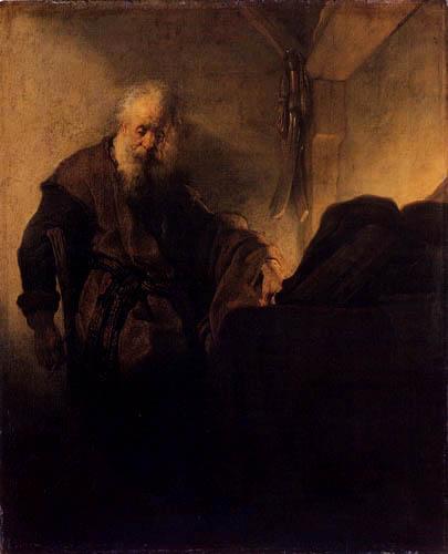 Hermansz. van Rijn Rembrandt - The Apostle Paul at his workbench