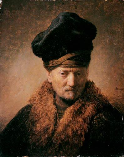 Hermansz. van Rijn Rembrandt - A old man with a fur cap