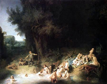 Hermansz. van Rijn Rembrandt - Diana in the bath