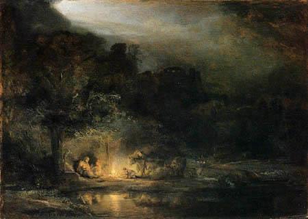 Hermansz. van Rijn Rembrandt - Rest on the Flight into Egypt