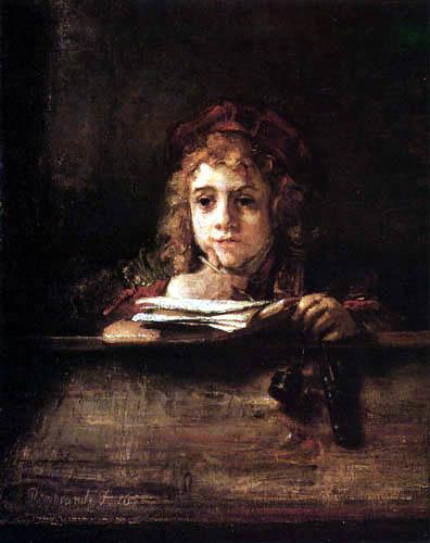 Hermansz. van Rijn Rembrandt - Titus an seinem Schreibpult