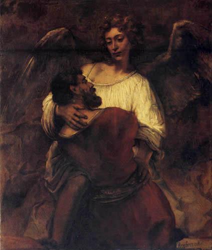 Hermansz. van Rijn Rembrandt - Jacob and the angel