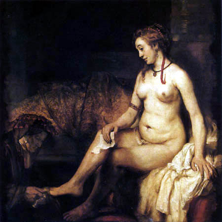 Hermansz. van Rijn Rembrandt - Bathsheba receiving David's letter