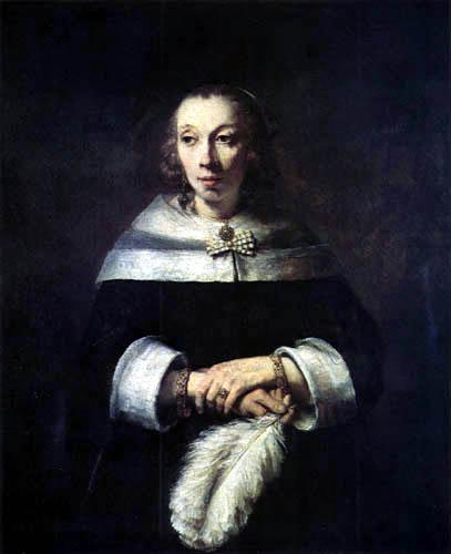 Hermansz. van Rijn Rembrandt - Lady with fan