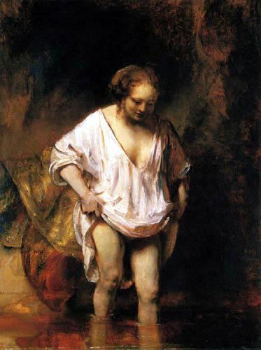 Hermansz. van Rijn Rembrandt - Hendrickje in einem Fluß badend