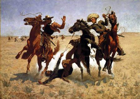 Frederic Remington - Hilfe am Cowboy