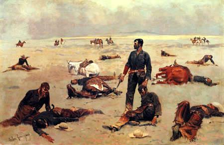 Frederic Remington - Ende eines Kampfes mit Viehdieben