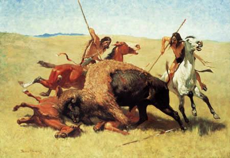 Frederic Remington - Buffalo hunt