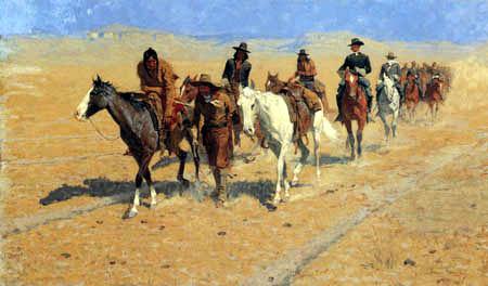 Frederic Remington - Im südlichen Flachland